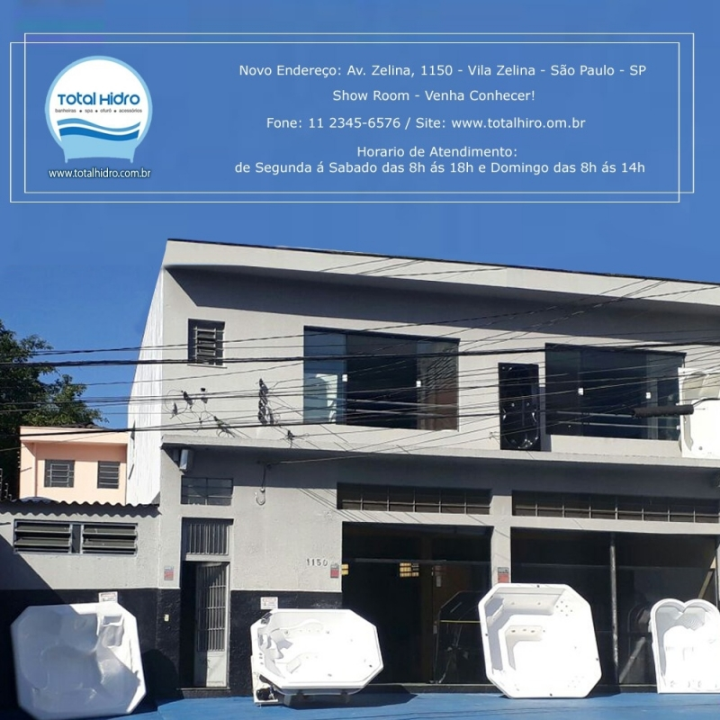 Banheira Loja de Fábrica Cruzeiro do Sul - Fábrica de Banheira
