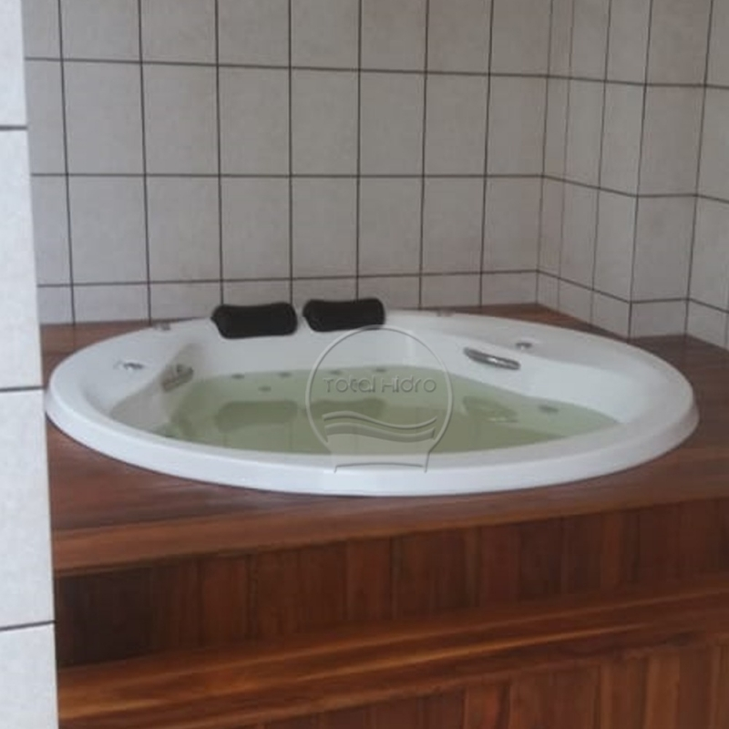 Banheira Redonda Hidro Nova Andradina - Banheira Redonda de Fibra