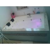 banheira dupla completa com aquecedor Canela