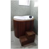 banheira individual pequena preço Jardim Guanabara