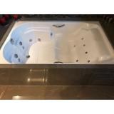 banheira dupla em fibra de vidro