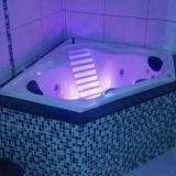 instalação de banheira de canto para banheiro pequeno Sombrio