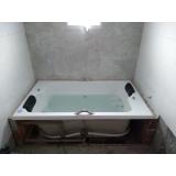 instalação de banheira dupla completa com aquecedor Estância