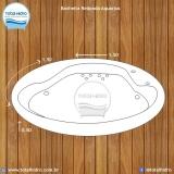 instalação de banheira redonda simples preço lajeado