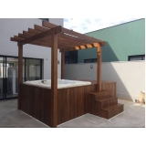 instalação de banheira spa com deck preço Anastácio