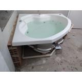 instalação de banheira de canto com hidro