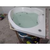 instalação de banheira de canto dupla