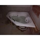 instalação de banheira de canto para banheiro