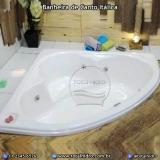 instalação para banheira de canto