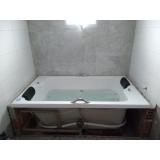 instalação de banheira dupla completa com aquecedor