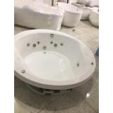 instalação de banheira imersão redonda