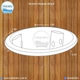 instalação de banheira redonda simples