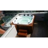 instalação de banheira spa com assento