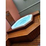 instalação de banheira spa em área externa