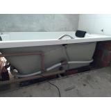 onde encontro instalação de banheira dupla completa com aquecedor Pontão