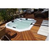 quanto é instalação de banheira spa com deck Mauá