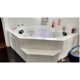 valor de banheira de canto para banheiro pequeno Monte Sião